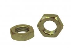 DIN 936 латунь Гайка низкая шестигранная с мелким шагом