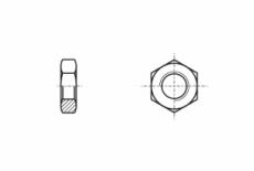 DIN 936 17H цинк платков Гайка низкая шестигранная