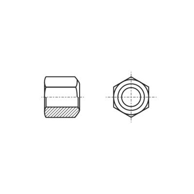 DIN 6330 10 цинк Гайка высокая шестигранная