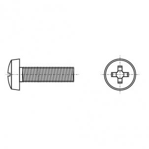 DIN 7985 4,8 без покрытия Винт с полукруглой головкой и крестообразным шлицом PH