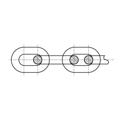 DIN 5685 цинк Ланцюг коротка ланка - Dinmark