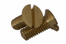 DIN 963 латунь Винт с потайной головкой и прямым шлицем