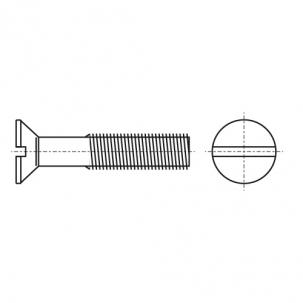 DIN 963 латунь Гвинт з потайною головкою і прямим шліцом