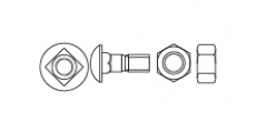 https://dinmark.com.ua/images/Спецболт 1199-G півкругла головка із квадратним підголовником - Інтернет-магазин Dinmark