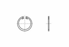 DIN 472 цинк платковий Кільце стопорне внутрішнє