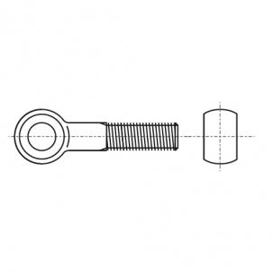 DIN 444 B латунь Болт відкидний