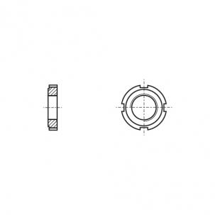 DIN 1804 сталь 14H Гайка шлицевая круглая