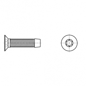 DIN 7500 M цинк Винт с потайной головкой самонарезающий под torx