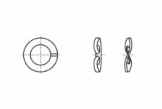 DIN 128-A без покриття Шайба стопорна пружинна