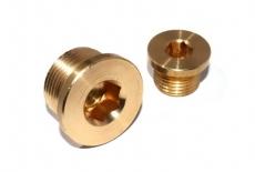 DIN 908 латунь Заглушка резьбовая цилиндрическая с дюймовой резьбой