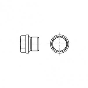DIN 910 цинк Заглушка резьбовая с мелким шагом