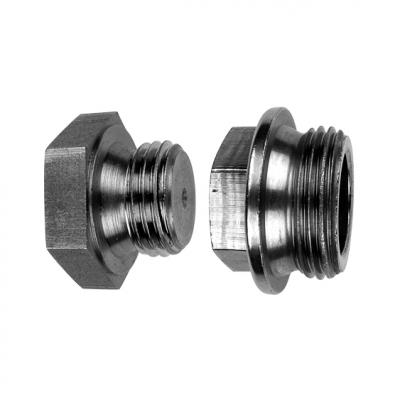 DIN 7604-A без покрытия Заглушка резьбовая с шестигранной головкой и фланцем