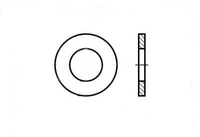 DIN 7989-2 без покрытия Шайба усилена