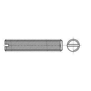 DIN 438 A4 Гвинт установочний з прямим шліцом і засверленим кінцем