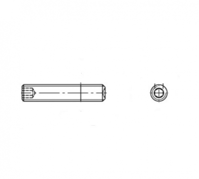 DIN 916 Винт установочный с внутренним конусом стальной, мелкий шаг