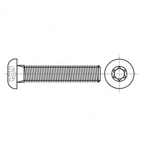 ISO 7380-1 10,9 цинк платковый черный Болт з напівкруглою головкою під torx