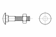 DIN 603 4,6 Болт з напівкруглою головкою і квадратним підголовником