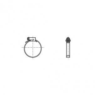 DIN 3017-A W2 Хомут червячный