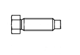 DIN 561-A 8,8 Болт з шестигранною головкою і цапфою