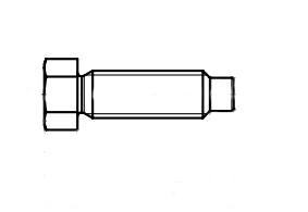 DIN 561-A 8,8 цинк Болт з шестигранною головкою і цапфою