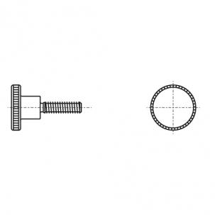 DIN 464 5,8 Винт с накатанной головкой