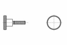 DIN 464 латунь Гвинт з накатаною головкою