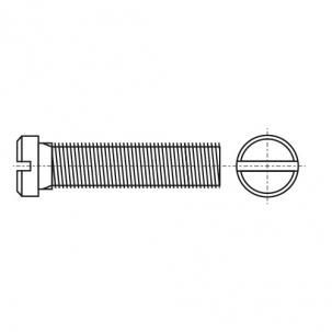 DIN 920 4,8 цинк Винт с полукруглой уменьшенной головкой