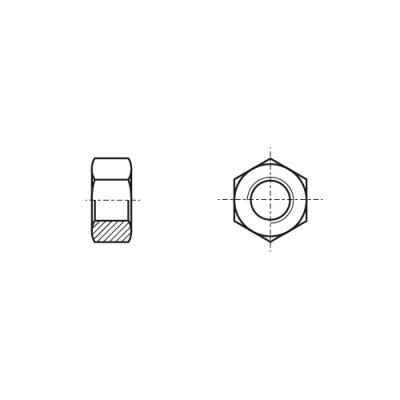 DIN 934 12 цинк платковый Гайка шестигранная