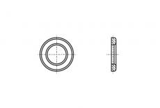 DIN 6916/EN 14399-6 цинк гарячий Шайба високоміцна Peiner