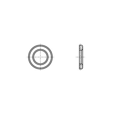 DIN 6916/EN 14399-6 цинк гарячий Шайба високоміцна Friedberg