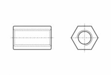 ART 9071 цинк Гайка втулка шестигранная