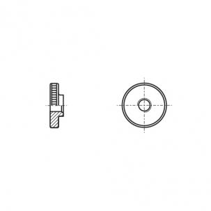 DIN 467 5 сталь Гайка с накаткой
