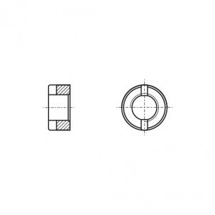 DIN 546 сталь Гайка кругла шліцева