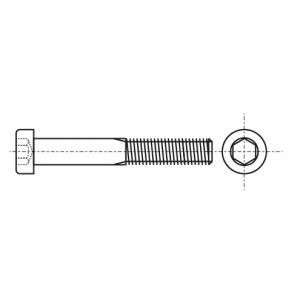 DIN 912 10,9 цинк платков Болт с цилиндрической головкой и внутренним шестигранником