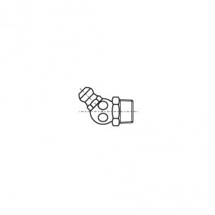 DIN 71412-В A4 Пресмаслянка гідравлічна кутова 45/67 градусів
