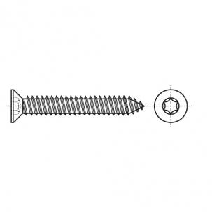 ISO 14586-C цинк Саморез с потайной головкой под torx