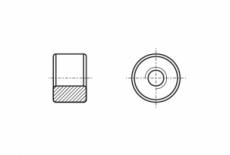 AN 117 A4 Гайка цилиндрическая с трапециевидной резьбой