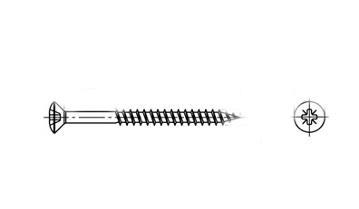 ART 9049 A2 Шуруп з напівпотайною головкою torx