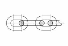 DIN 766 цинк Ланцюг коротка ланка