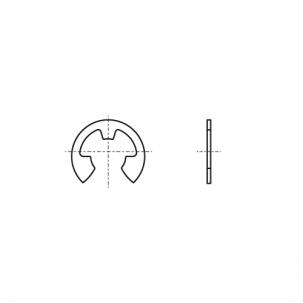 DIN 6799 цинк Кільце стопорне