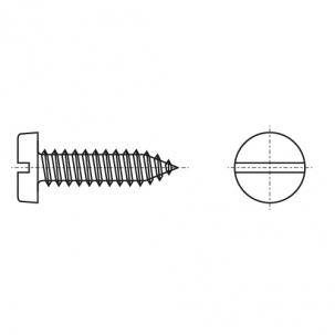 DIN 7971-C цинк Саморіз з напівкруглою головкою і прямим шліцом