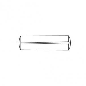 DIN 1471 сталь Штифт конусный с насечкой
