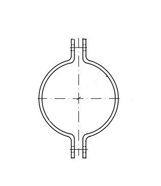 DIN 3567 цинк гарячий Хомут трубний