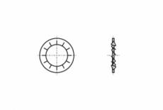 DIN 6797-J сталь Шайба стопорна зубчаста