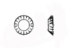 DIN 6797-V цинк Шайба стопорная зубчатая - Інтернет-магазин Dinmark