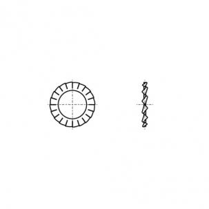 DIN 6798-A бронза Шайба стопорная зубчатая