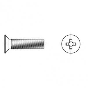 DIN 965 латунь Гвинт з потайною головкою і хрестоподібним шліцом PH