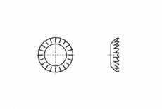 DIN 6798-V сталь Шайба стопорна зубчаста