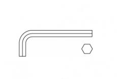 DIN 911 цинк Ключ шестигранний