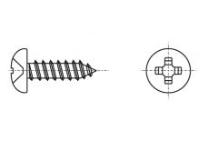 DIN 7981-C цинк чорний Саморіз з напівкруглою головкою torx